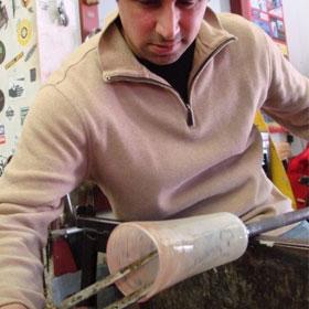 making a pint glass
